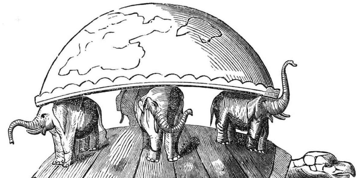 картинка земля на трех слонах китах и черепахе газ